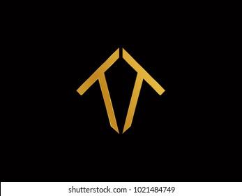 TT square shape Gold color logo