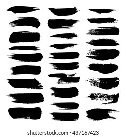 Ttexture strokes thick paint isolated on white background