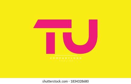 TU abstract initials monogram letter text alphabet logo design