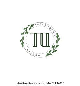 TU Initial beauty floral logo template