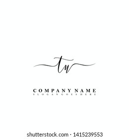 TU Initial luxury handwriting logo vector