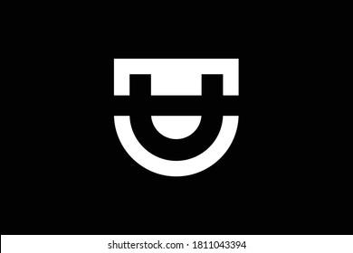 TU letter logo design on luxury background. UT monogram initials letter logo concept. TU icon design. UT elegant and Professional white color letter icon design on black background. T U TU UT