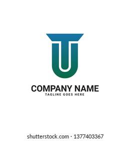 TU Letter Logo Template. TU Initial Logo Design. - Vector