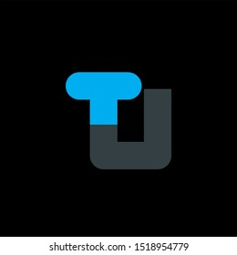 TU Letter monogram with abstrac concept style design