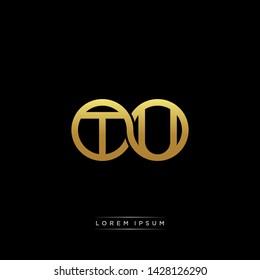 TU T U initial letter linked circle capital monogram logo modern template