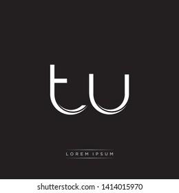 tu t u Logo Initial Letter Split Lowercase Modern Monogram