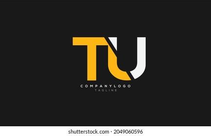 TU, UT, Abstract initial monogram letter alphabet logo design
