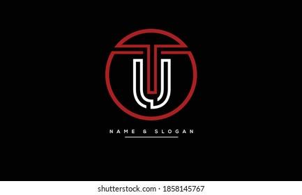 TU ,UT ,T ,U  Abstract letters logo monogram