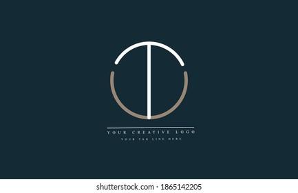 TU, UT, T, U abstract vector logo monogram tempate