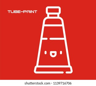 TUBE PAINT VECTOR ICON