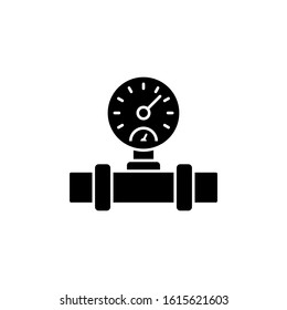 Tube, pressure gauge, bathroom icon. Simple bathroom icons for ui and ux, website or mobile application