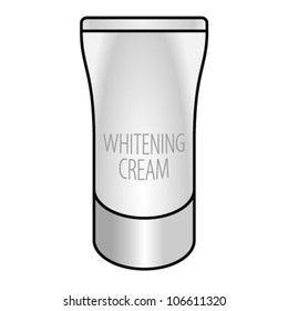 A tube of skin whitening cream.