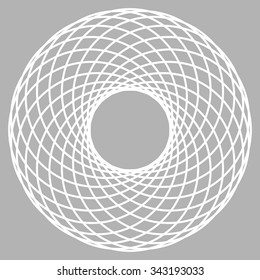 Tube torus sacred geometry vector