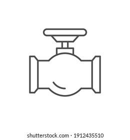 Tube valve line outline icon