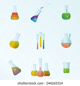 tubes and formulas seamless background