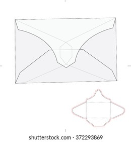 Tuck Envelope with Die Cut Template