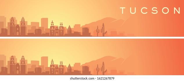 Tucson Beautiful Skyline Scenery Banner