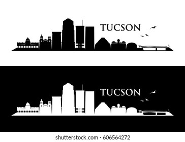 Tucson skyline - Arizona - vector illustration