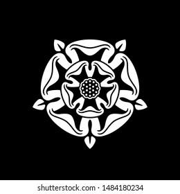 Tudor Rose Ancient Vector Symbol