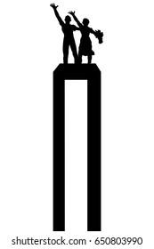 tugu selamat datang, one of jakarta icon