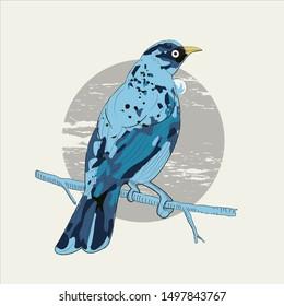 Tui - New Zealand bird logo mascot