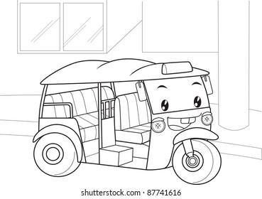 car in thailand stock vectors images vector art shutterstock Travel Destinations United States tuk tuk is car in thailand and it is cartoon vector illustration technique