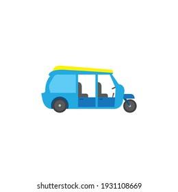 Tuk Tuk Thailand car cartoon vector on a white background