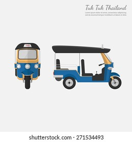 Tuk Tuk in Thailand.vector