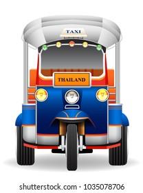 Tuk Tl car graphic vectoruk. Thai traditiona
