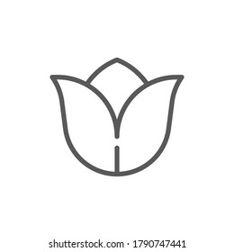 Tulip flower vector icon symbol isolated on white background