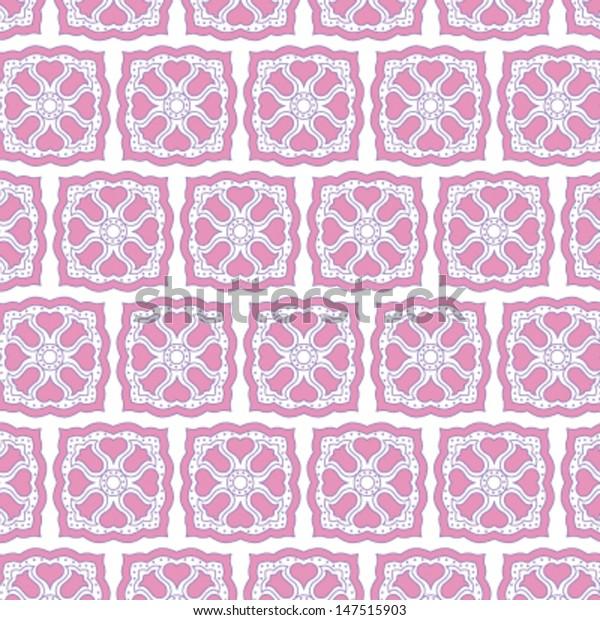 tulip heart seamless tile pattern