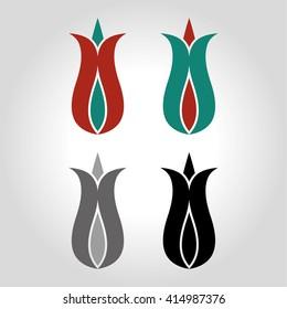 tulip logo, icon and symbol vector illustration