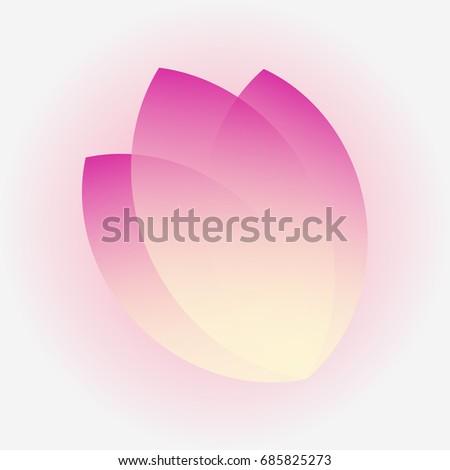tulip three petal icon vector logotype stock vector royalty free