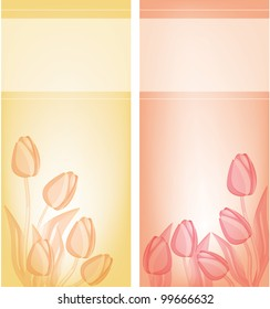 Tulips card background. eps 10 files