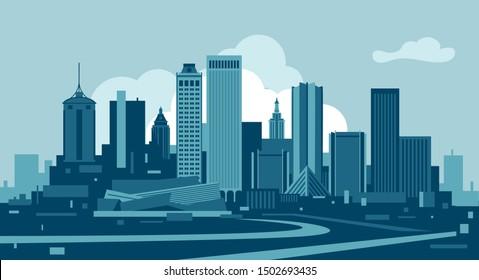 Tulsa City Oklahoma USA skyline