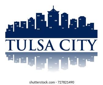 Tulsa City Skyline Logo Template