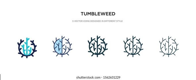 tumbleweed icon in different style vector illustration. two colored and black tumbleweed vector icons designed in filled, outline, line and stroke style can be used for web, mobile, ui