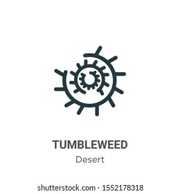 Tumbleweed vector icon on white background. Flat vector tumbleweed icon symbol sign from modern wild west collection for mobile concept and web apps design.