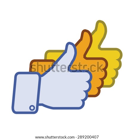tumbs icon hand sign encouragement success stock vector royalty