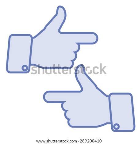tumbs icon sign indicates direction hand stock vector royalty free