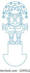 Tumi icon vector illustration and typography design
