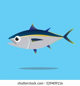 Tuna fish flat vector stock