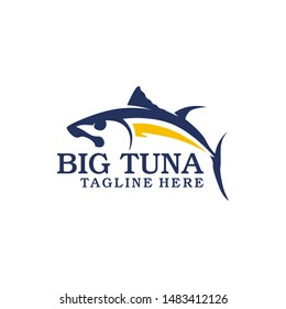 Tuna fish logo template vector. Fish as a food for logo template