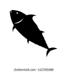Tuna fish silhouette vector