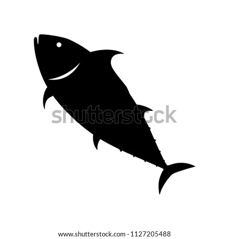 tuna fish silhouette vector stock vector royalty free 1127205488