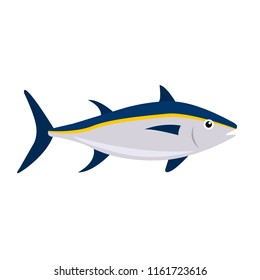 Tuna  flat icon on white background