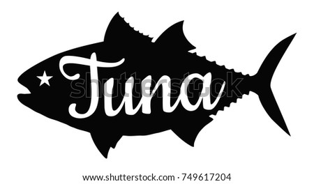 tuna silhouette logo stock vector royalty free 749617204