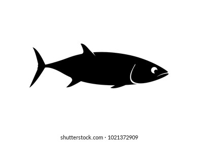 tuna skipjack fish silhoutte