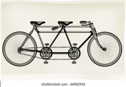 Tuned retro tandem bicycle
