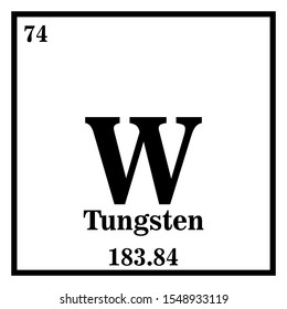 Tungsten Periodic Table of the Elements Vector illustration eps 10